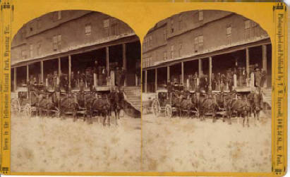 Stagecoach at National Hotel MHS 1883